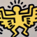 keith haring, keith haring icons, pop art, angel,Angel by Keith Haring from Icons