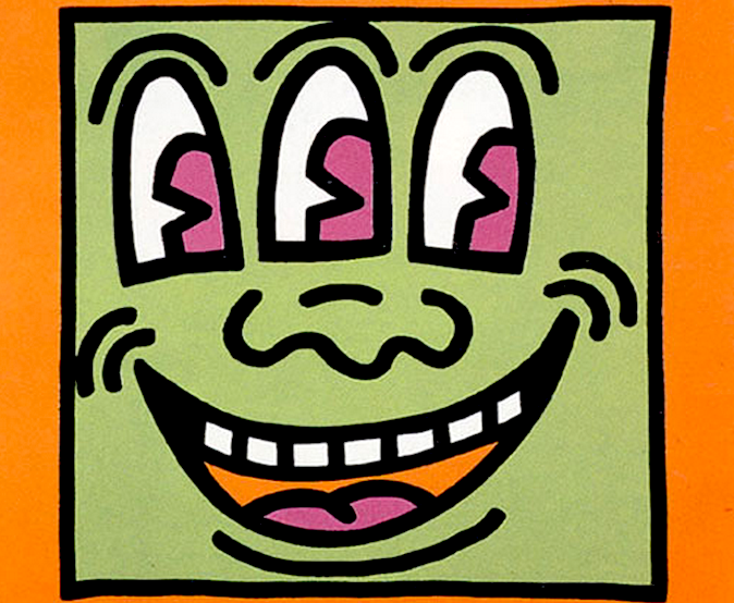 Three Eyed Monster by Keith Haring