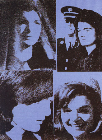 Jackie Kennedy III by Andy Warhol