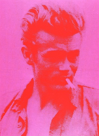 Pink James Dean by Russell Young
