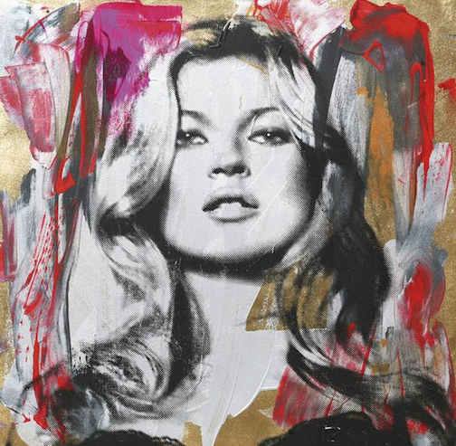 popular, mr. brainwash, kate moss, painting