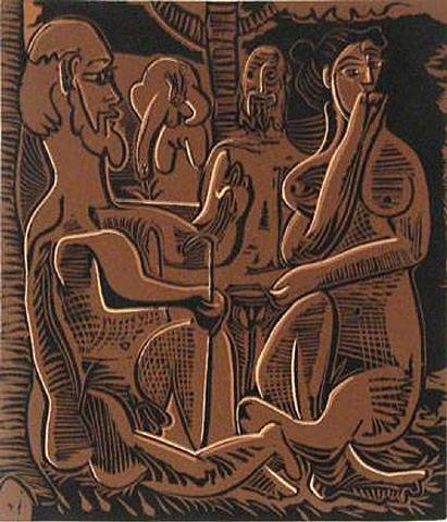 Le Dejeuner Sur L'Herbe Linouct by Picasso