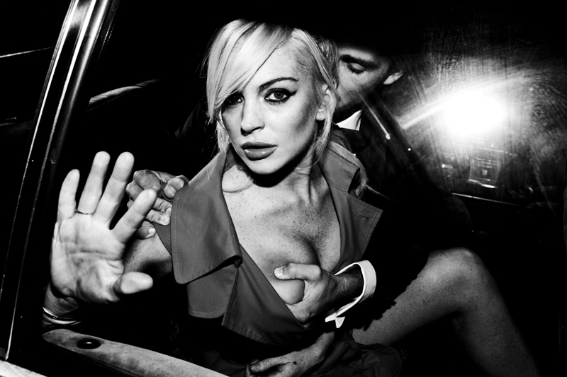 Lindsey Lohan Spencer Falls by Tyler Shields