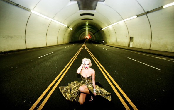 Lindsey Tunnel by Tyler Shields