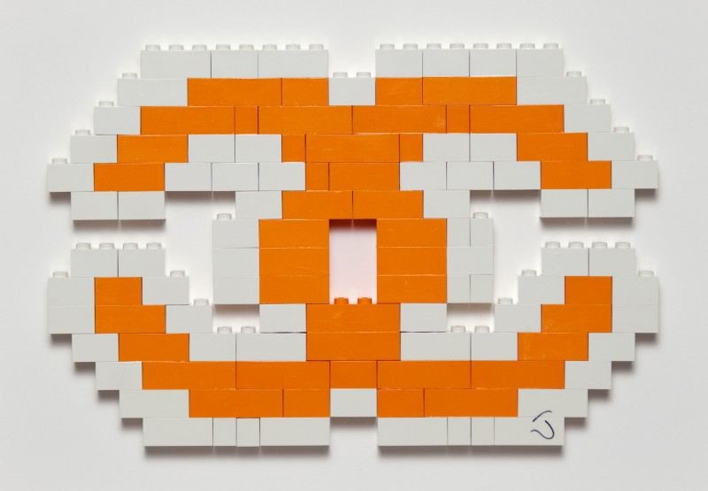 Luxury Lego (Orange and White)