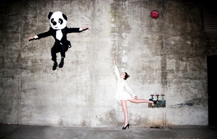 Panda Jump by Tyler Shields