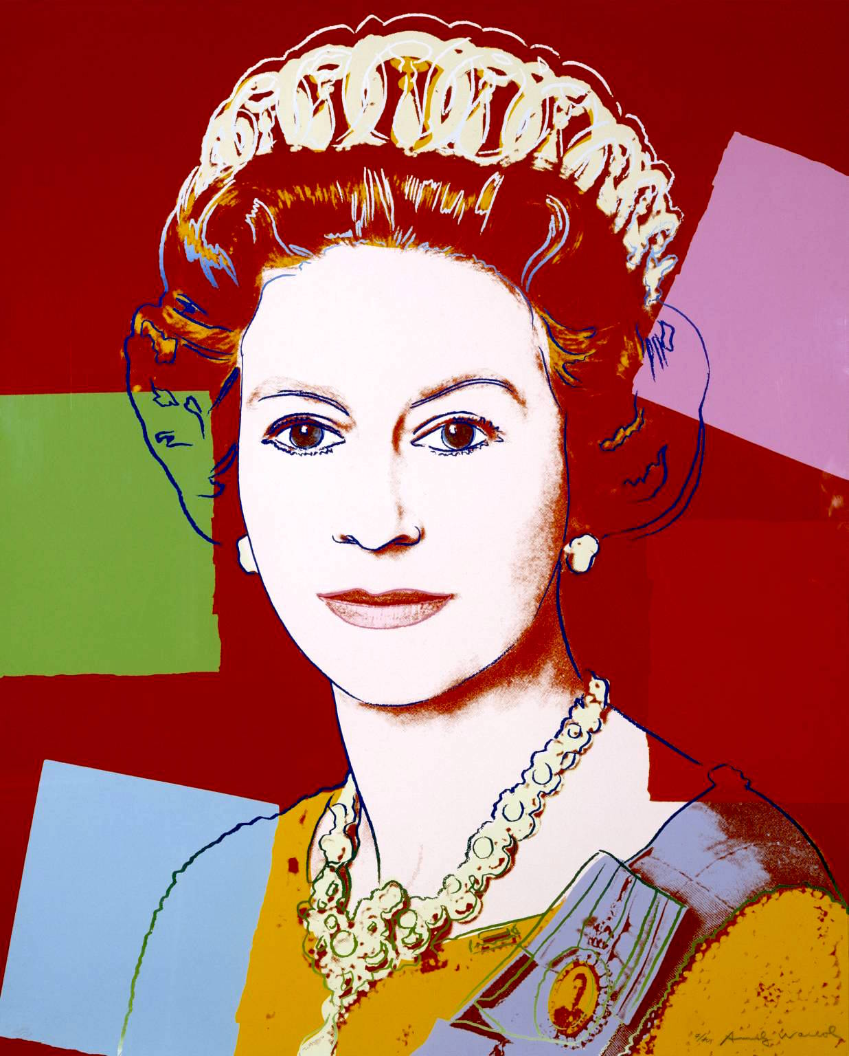 342 Queen Margrethe II by Andy Warhol