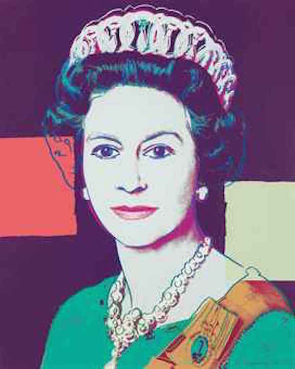 335 Queen Elizabeth by Andy Warhol