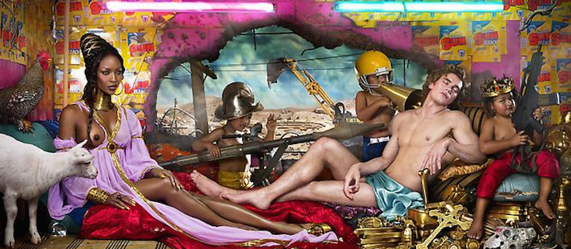 Rape of Africa Naomi Campbell by David LaChapelle