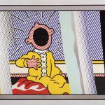 roy lichtenstein, lichtenstein, popart, reflections,Reflection on the Scream by Roy Lichtenstein
