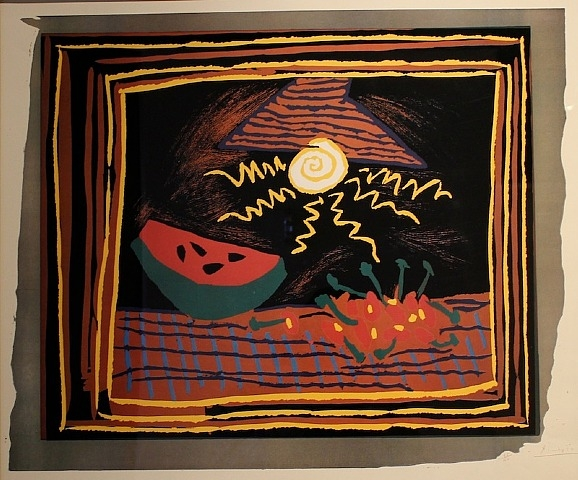 Watermelon Linocut by Picasso