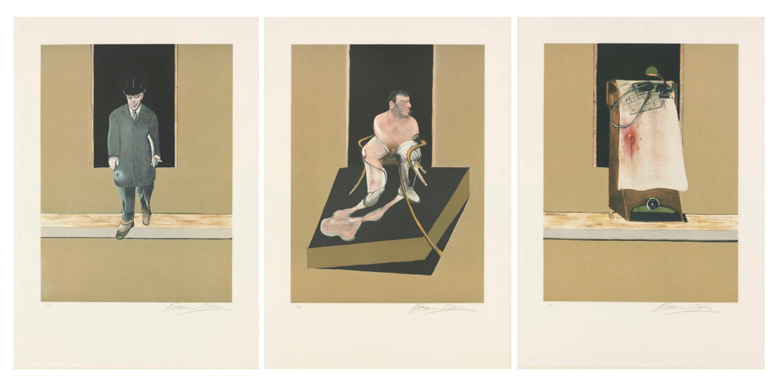 FRANCIS BACON TRIPTYCH 1987