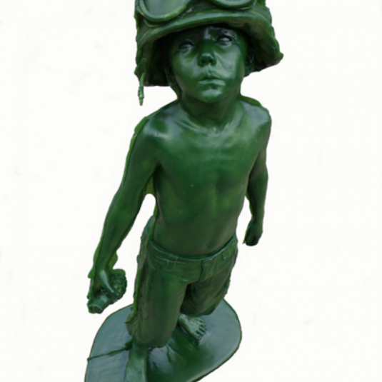 schoony, schoony boy soldier, sculpture