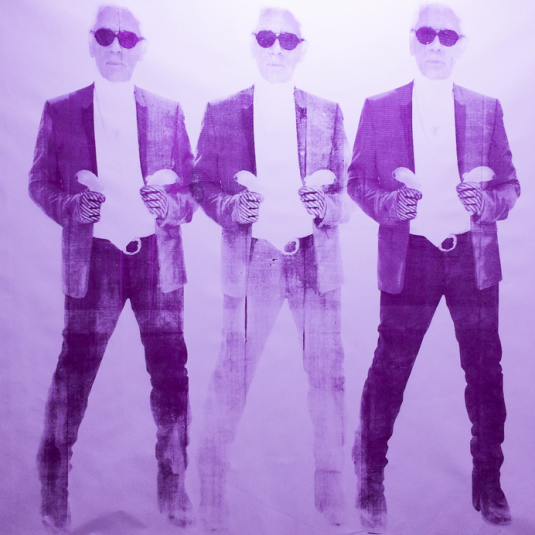 niclas castello, paintings, chanel, neo, popular, Shooting Karl Violet by Niclas Castello