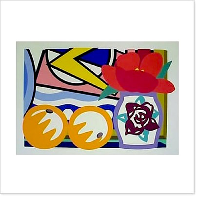 Still Life with Oranges by Tom Wesselmann
