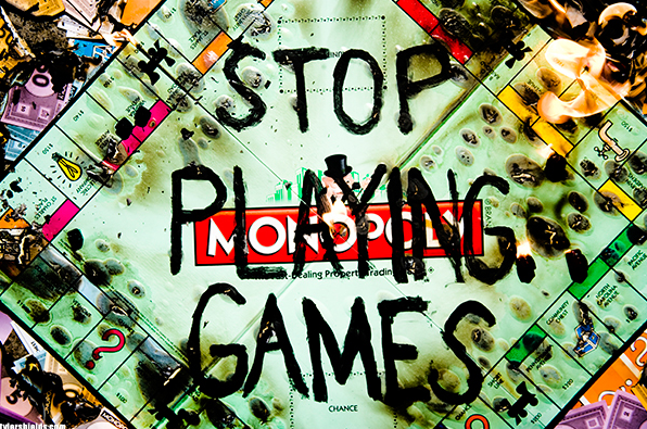 Stop Playing Games by Tyler Shields
