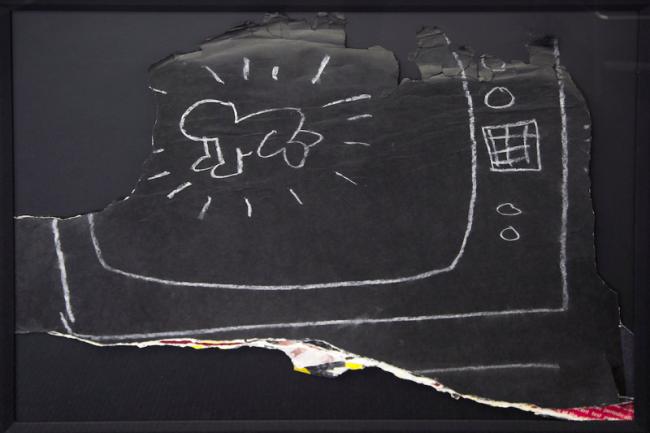 keith haring, pop art, subway drawings, graffiti