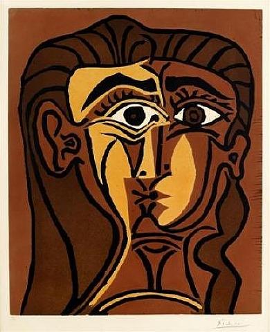 Tete de Femme Linocut by Picasso
