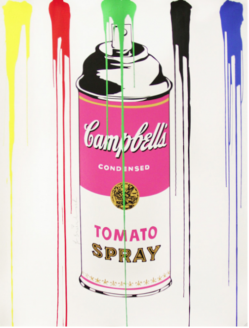 Tomato Spray Can Pink by Mr. Brainwash