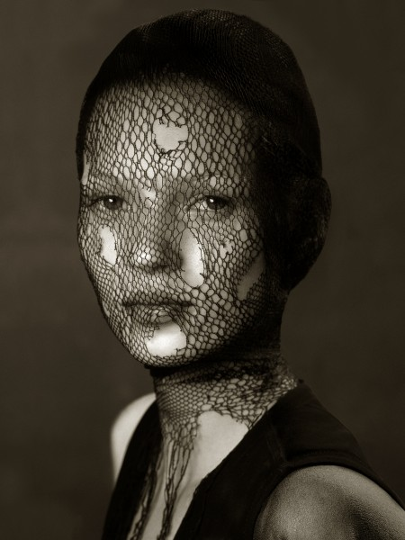 Torn Veil Kate Moss by Albert Watson