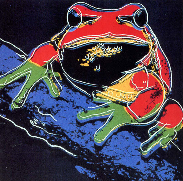 Tree Frog by Andy Warhol