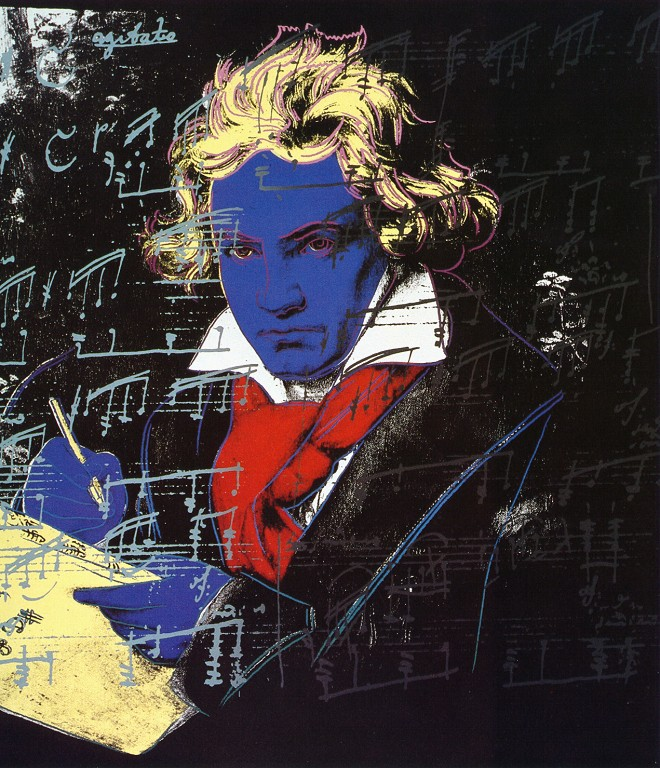 beethoven by andy warhol guy hepner. Black Bedroom Furniture Sets. Home Design Ideas