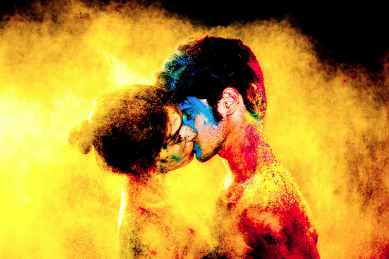 Chromatic Kiss (Yellow) by Tyler Shields