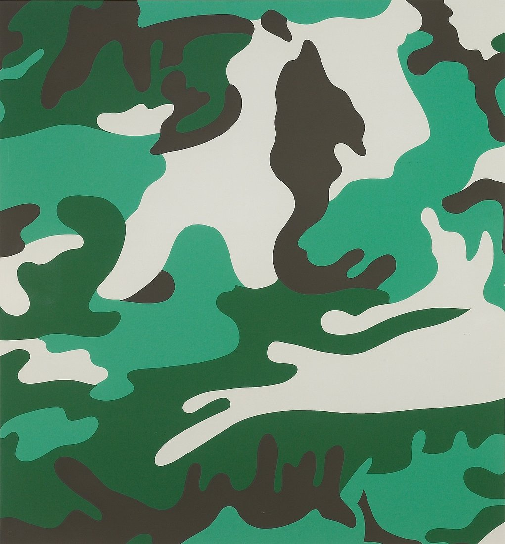 camouflage print portfolio by andy warhol guy hepner. Black Bedroom Furniture Sets. Home Design Ideas