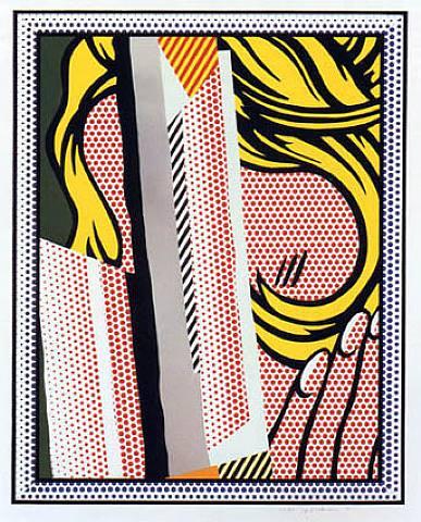 roy lichtenstein, pop art, reflections,Reflections on Hair by Roy Lichtenstein
