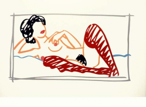 Red Stocking Nude by Tom Wesselmann