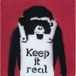 banksy, urban, keep it real, paitnings by banksy, street art, graffiti