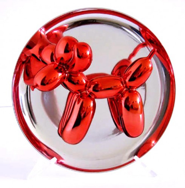 Red Balloon Dog by Jeff Koons