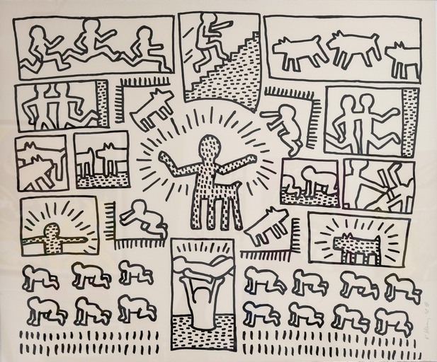 Blueprint Drawings 11 by Keith Haring
