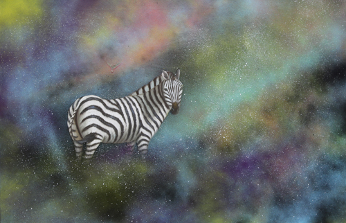 Space Zebra by The Most Famous Artist