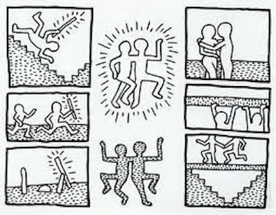 Blueprint Drawings 14 by Keith Haring
