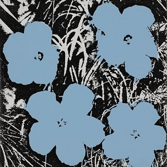 5 Inch Flower Painting Andy Warhol - Guy Hepner