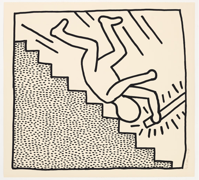 Blueprint Drawings 9 by Keith Haring