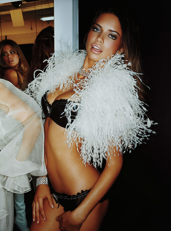 Adriana With Boa Backstage II by Gavin Bond