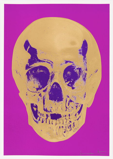 African Gold Skull by Damien Hirst