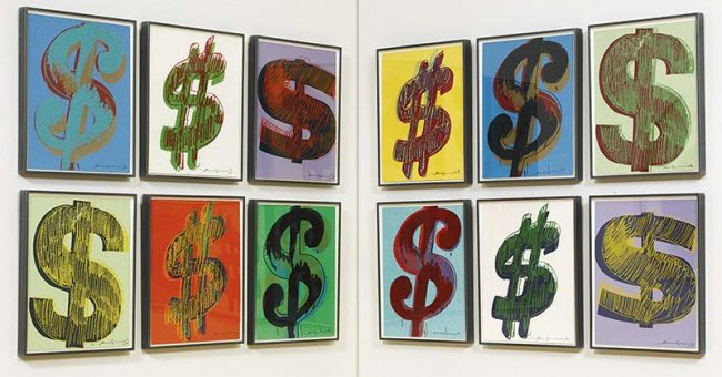 Dollar Sign By Andy Warhol Guy Hepner
