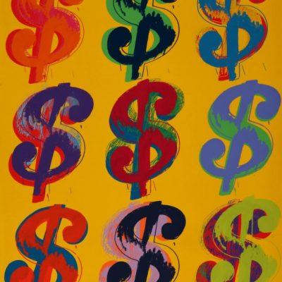 andywarhol, warhol, popart, warhol, White Nine Dollar Signs by Andy Warhol