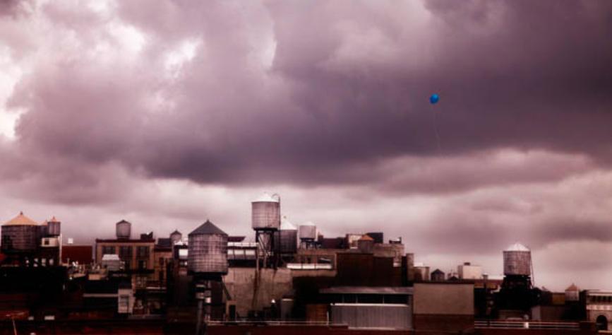 Balloon over New York City by David Drebin