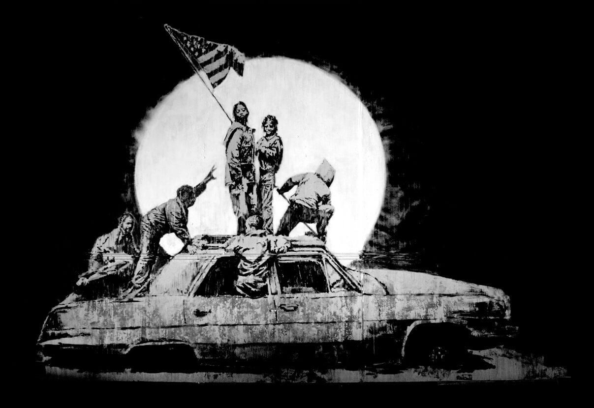 Banksy-Flags-Print