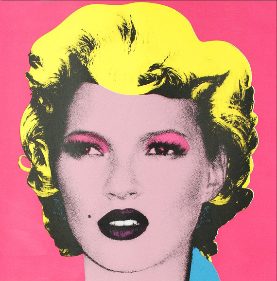 Pink Kate Moss by Banksy