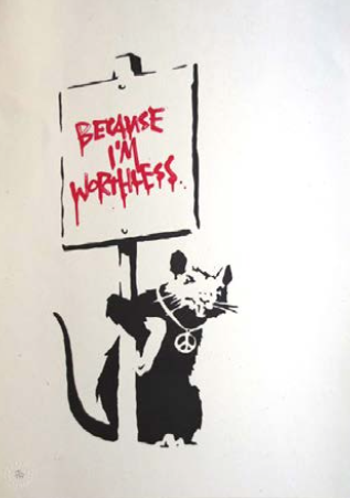 Worthless Rat by Banksy