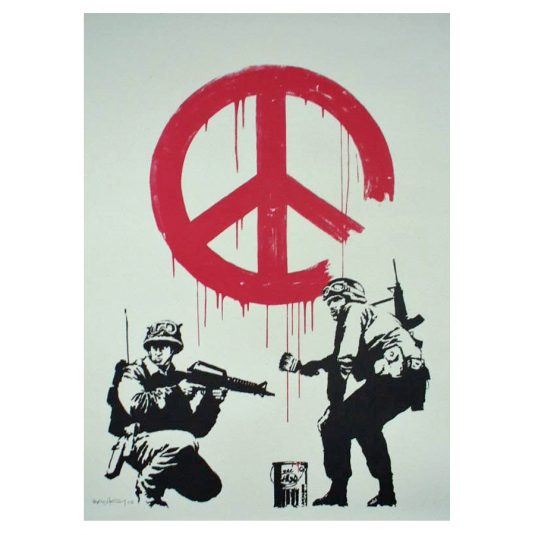 banksy, street art, graffiti, CND Soldiers by Banksy
