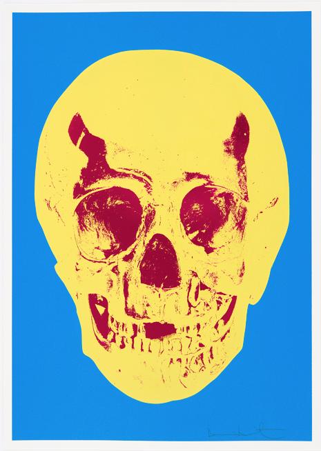 Cerulean Blue Skull by Damien Hirst
