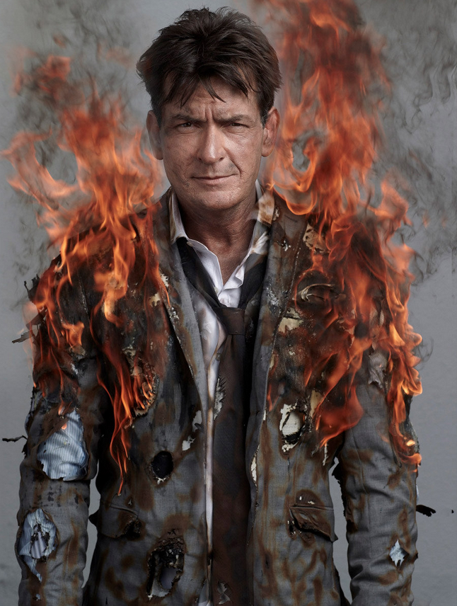 Portraits of Charlie Sheen by Gavin Bond