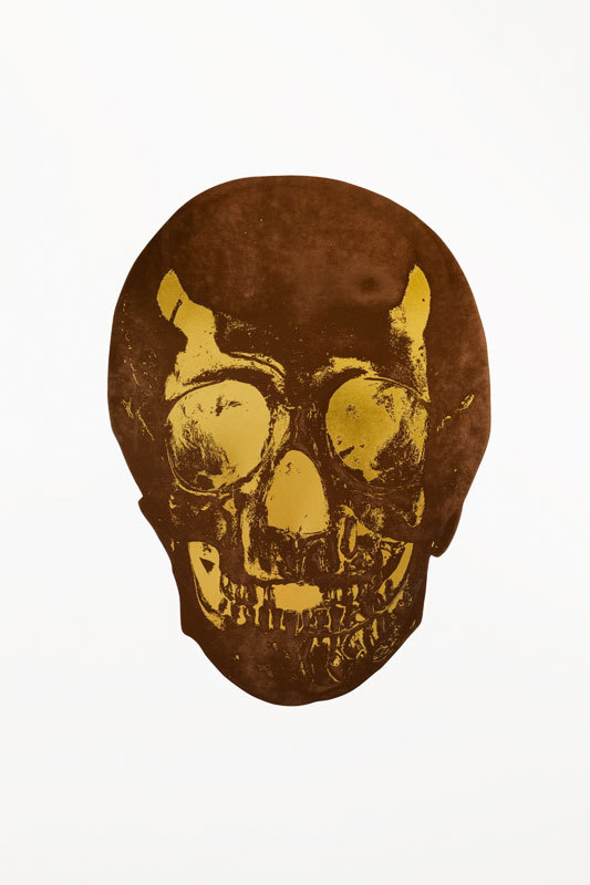 Chocolate Skull by Damien Hirst
