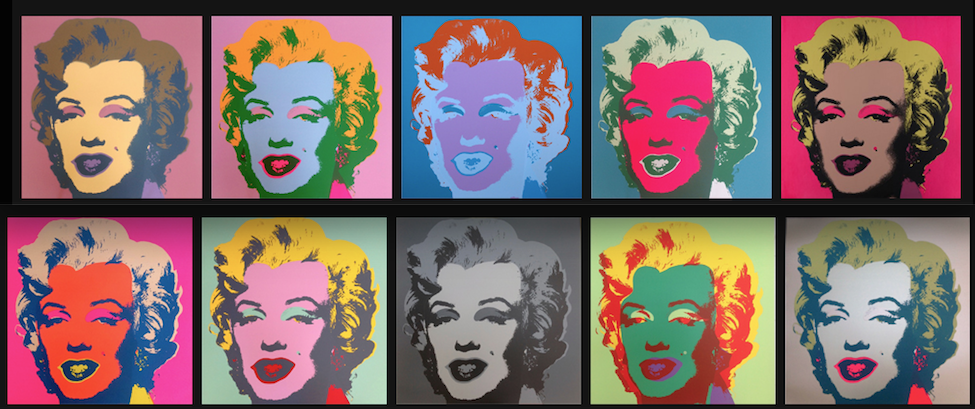 andy warhol and marilyn monroe painting